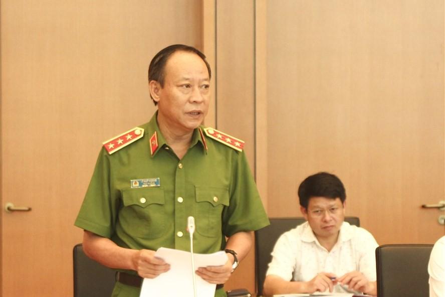 Thượng tướng Lê Quý Vương - Thứ trưởng Bộ Công an. Ảnh: báo Lao động