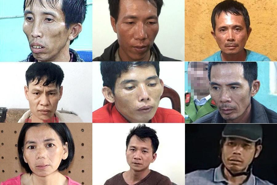 Các đối tượng bị khởi tố trong vụ nữ sinh giao gà ở Điện Biên bị sát hại.