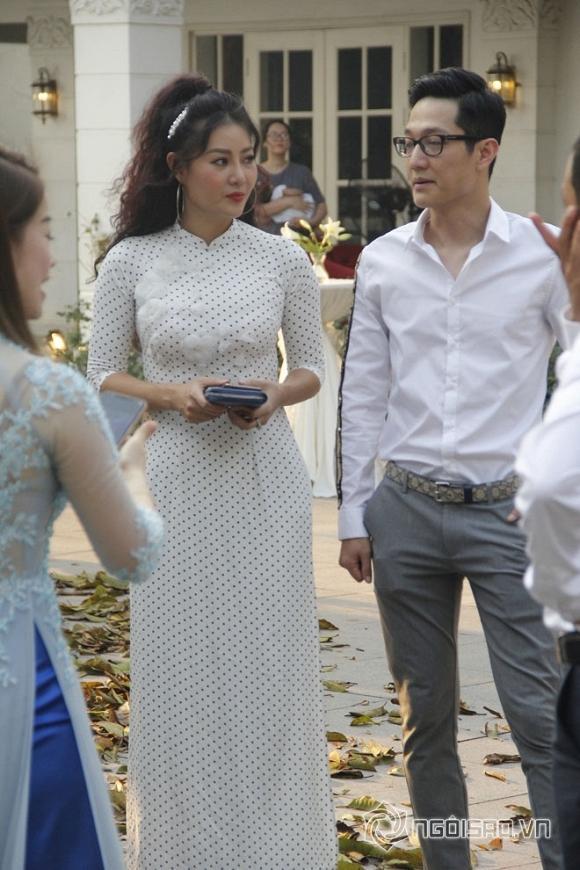 Thanh Hương và Chí Nhân là hai sao Việt có mặt sớm tại đám cưới NSND Trung Hiếu.