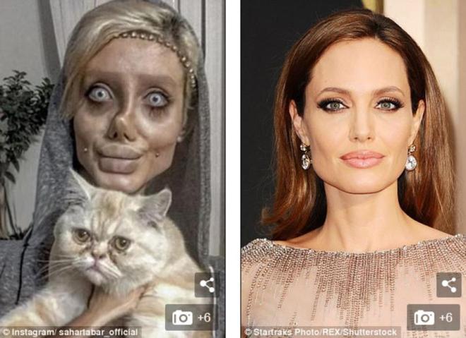 Tuy nhiên sau khi nỗ lực giảm cân và thực hiện 50 cuộc phẫu thuật, khuôn mặt Sahar ngày càng biến dạng.