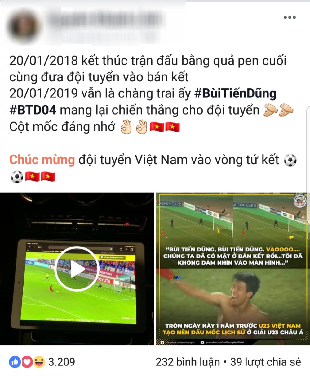 Khánh Linh đăng tải lời chúc mừng đến người yêu và đồng đội.