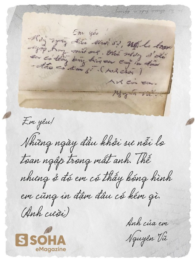 Lá thư tình mùi mẫn ngày nào của ông Vũ tặng bà Thảo được dân tình lục lại. (Nguồn ảnh: Soha)