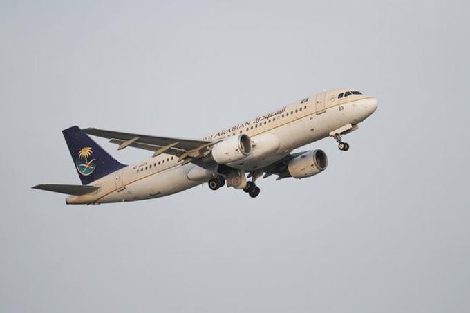 Máy bay của hãng Saudi Arabian Airlines. Ảnh minh họa: Rex.