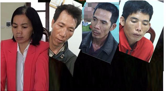 Bùi Kim Thu và 3 đối tượng cư.ỡng b.ức nữ sinh ở Điện Biên (Ảnh: Lao động)