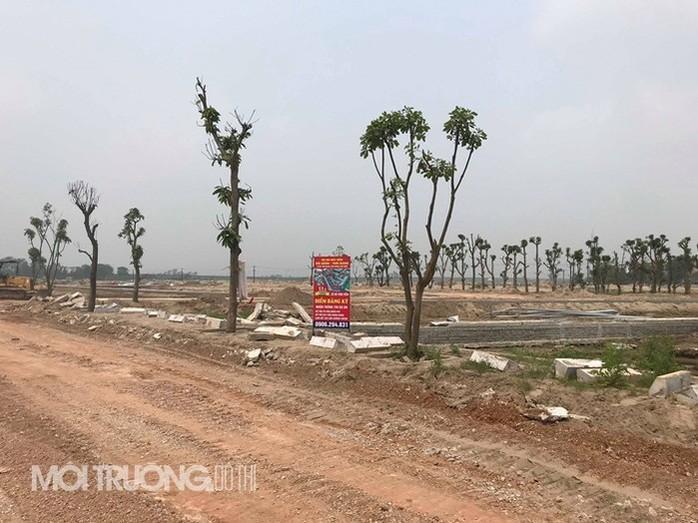 Một góc dự án tại xã Tam Giang, huyện Yên Phong.