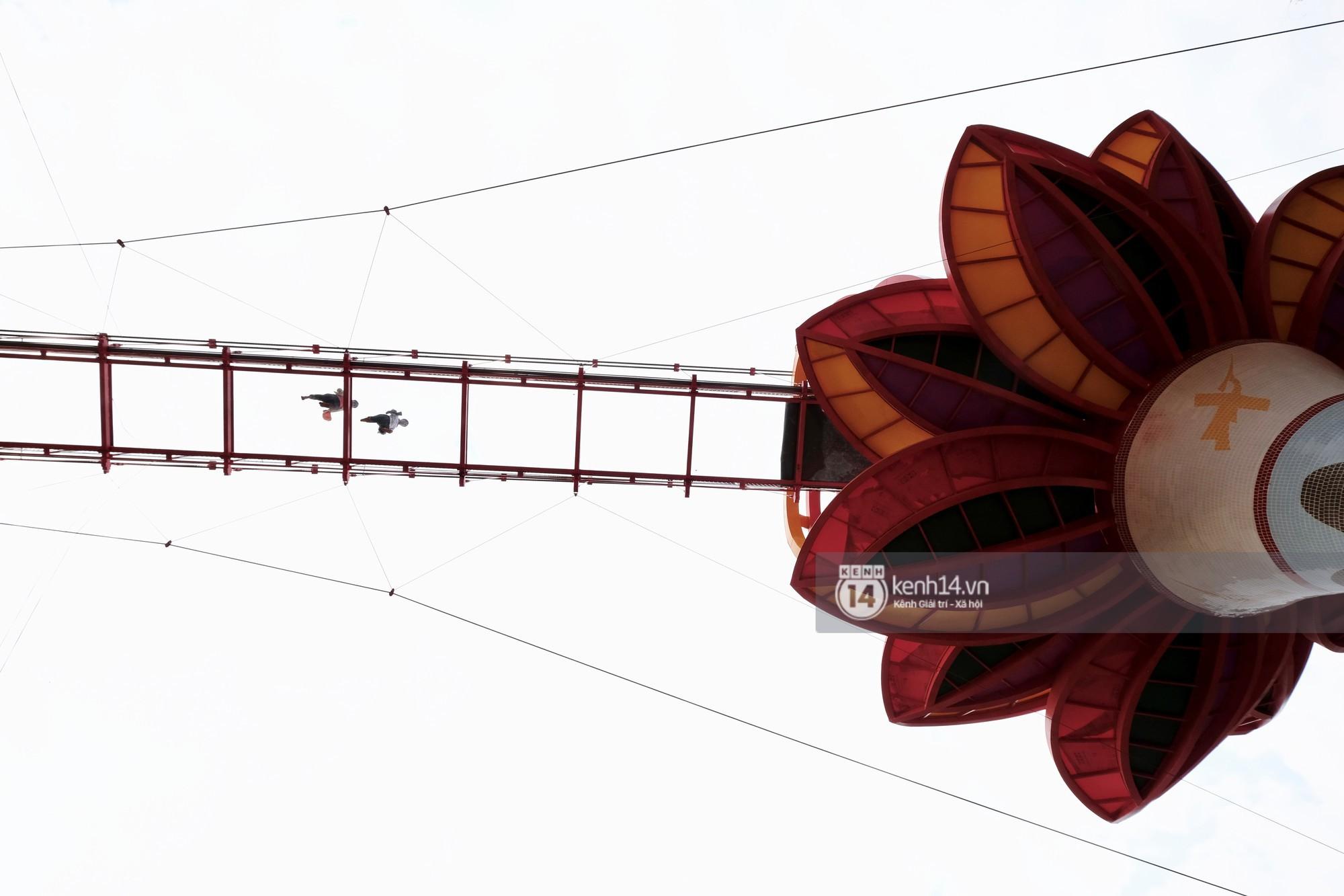 Hệ dây văng chịu lực đảm bảo tính an toàn cao chịu được trọng tải trên 50 tấn.