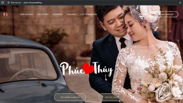 Mời cưới bằng website, có cả bản đồ và… số tài khoản ngân hàng