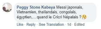 Một CĐV Pháp bất ngờ khi có khá nhiều phiên bản của Messi tại các nước: Messi Nhật Bản, Messi Thái Lan, Messi Việt Nam...
