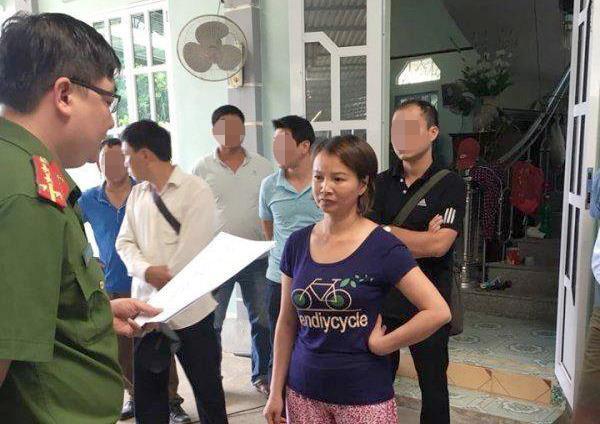 Bà Trần Thị Hiền khi bị bắt