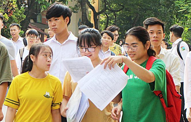 Thí sinh tham gia Kỳ thi THPT Quốc gia năm 2019 tại Thái Nguyên.