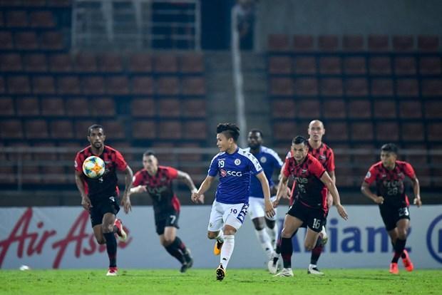 Quang Hải từng cùng Hà Nội FC đối đầu Bangkok United trên sân Thammasat.