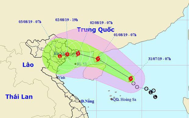 Sơ đồ vị trí và dự báo hướng đi của bão số 3 - Ảnh: Trung tâm dự báo khí tượng thủy văn quốc gia