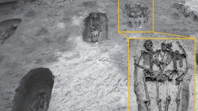 Địa điểm phát hiện hai bộ xương chính là một nghĩa trang chôn cất những người lính.