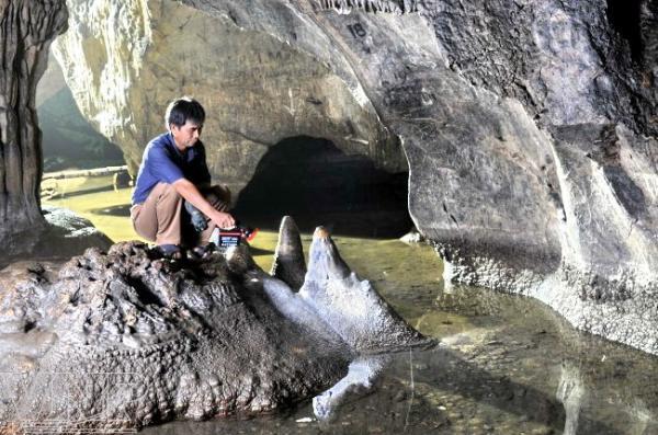 Những măng đá nhỏ xinh mọc lên từ lòng suối. (Nguồn: Trần Thanh Giang)