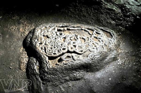 Những hoa văn của đá tạo hình như một chiếc ấn triện. (Nguồn: Trần Thanh Giang)