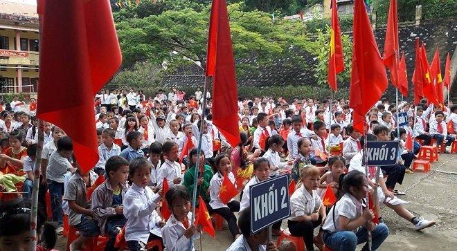 Cấp tiểu học tại huyện miền núi Thanh Hóa khai giảng năm học mới