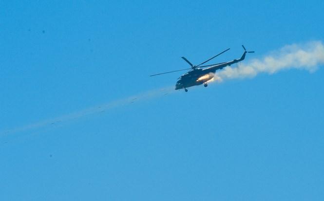 Trực thăng vũ trang MI-8 tham gia công kích mục tiêu