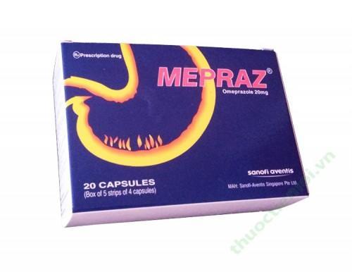 Thuốc viên nang Mepraz (Omeprazole 20mg)
