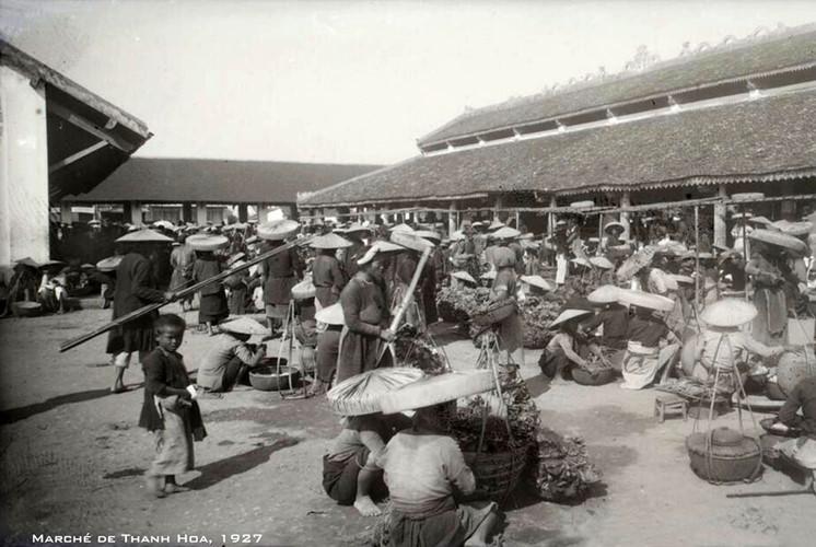Chợ Thanh Hóa năm 1927. Ảnh tư liệu.