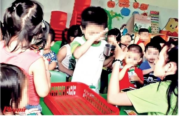 Các trẻ bị đánh đập, bạo hành là chuyện thường xuyên tại trường Mầm Xanh