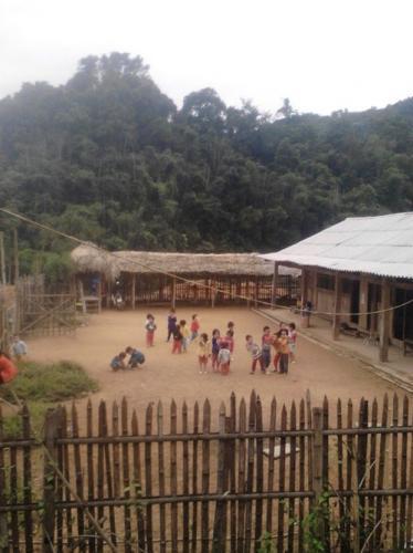 Các khu lẻ của trường Mầm non Tam Thanh được người dân bản góp công xây dựng