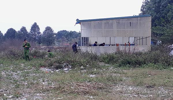 Hiện trường nơi phát hiện nạn nhân.