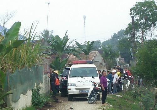 Hiện trường vụ việc tại xã Tân Khang. Ảnh GĐXH