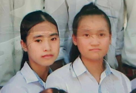 Hai nữ sinh Oanh và Quỳnh cùng mất tích. Ảnh: Gia đình cung cấp.