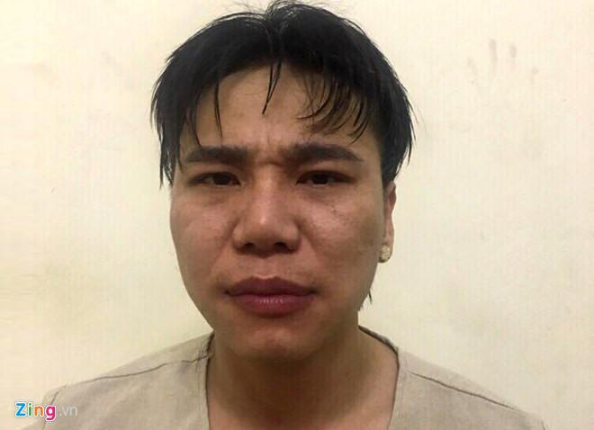 Châu Việt Cường tại cơ quan điều tra. Ảnh: Mai Hương.