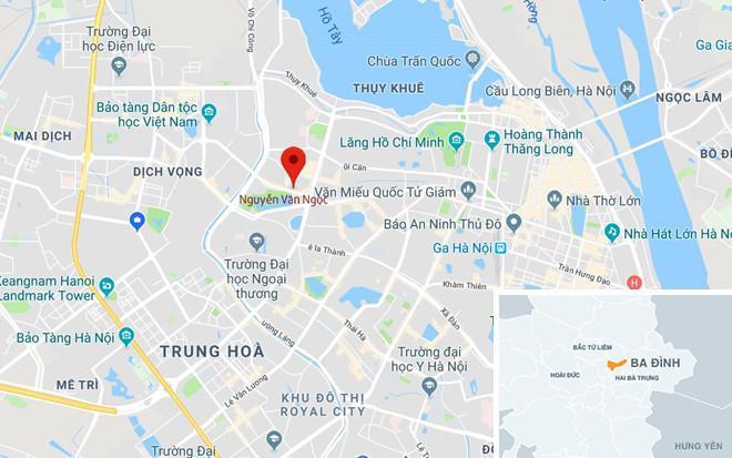 Chấm đỏ, nơi xảy ra vụ việc. Ảnh: Google Maps.