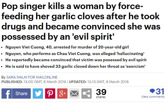 Thông tin được đưa trên tờ Daily Mail: