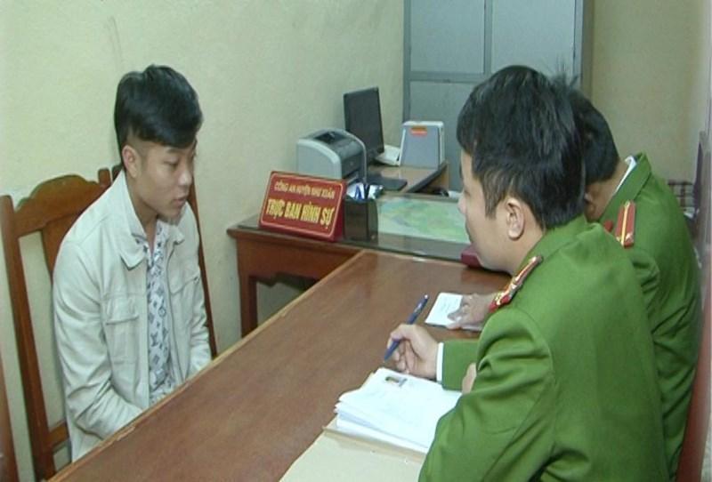 Vũ Văn Phong khai nhận hành vi của mình tại cơ quan công an.