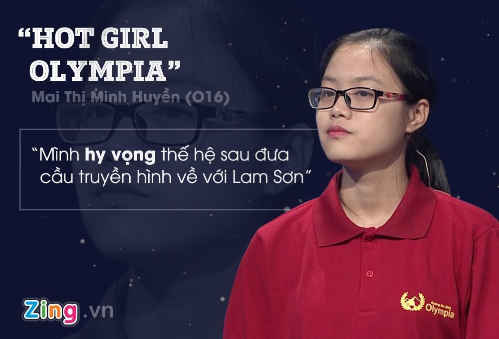 Chân dung cô nàng Mai Thị Minh Huyền đã từng gây náo loạn tại Olympia. - Ảnh: zing.vn