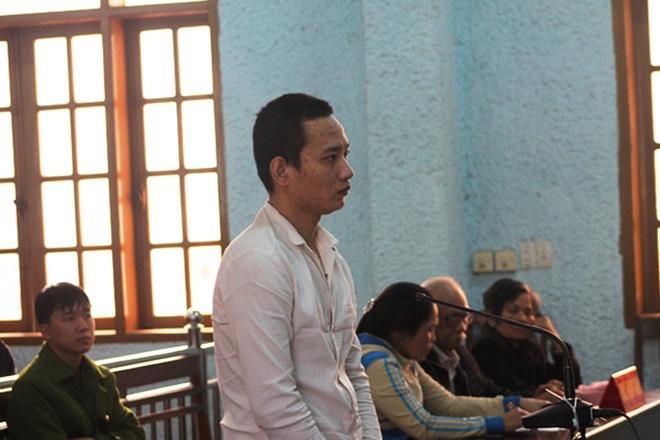Bị cáo Dương tại phiên tòa xét xử.