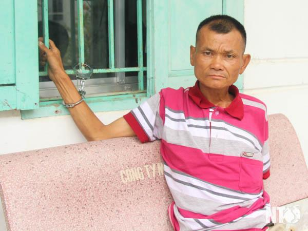 Trần Văn Sơn tại cơ quan điều tra Công an Tp. Phan Rang – Tháp Chàm.