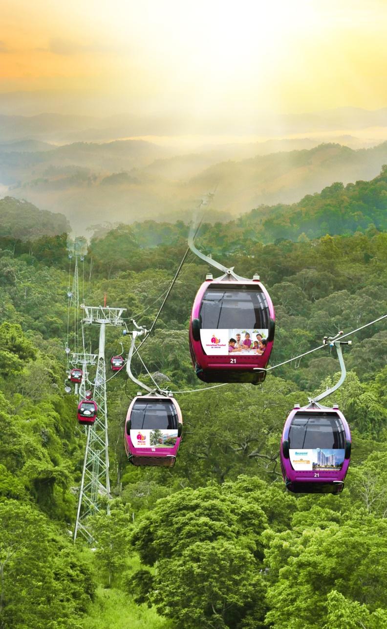 Cáp treo TTC World – Tà Cú là hệ thống cáp treo hiện đại bậc nhất Việt Nam