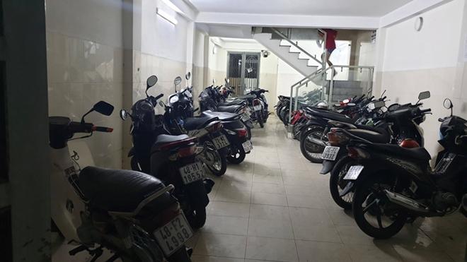 Hiện trường, nơi các đối tượng vụ trộm 9 xe máy.