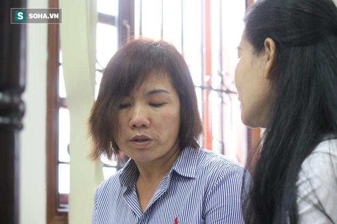 Bị cáo Nguyễn Thị Nga tiều tụy tại phiên xử.