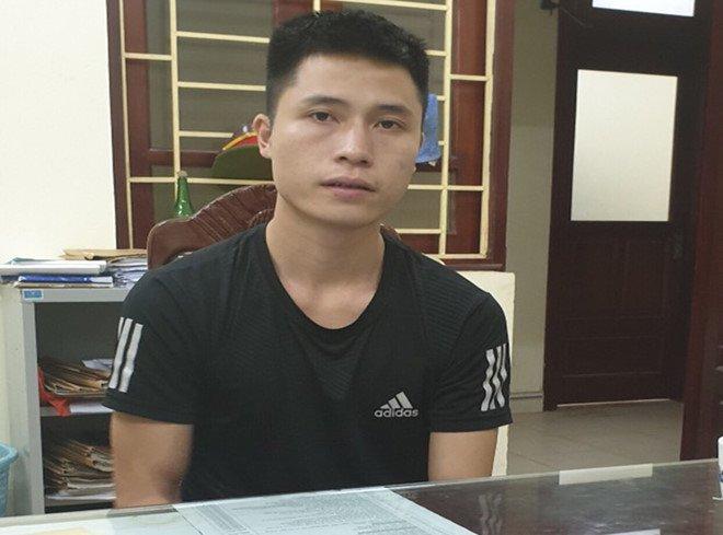 Đào Duy Cường tại cơ quan công an.