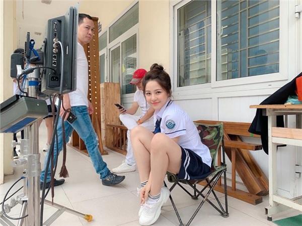 Hình ảnh Trâm Anh trong bộ phim về học đường của đạo diễn Nguyễn Love.