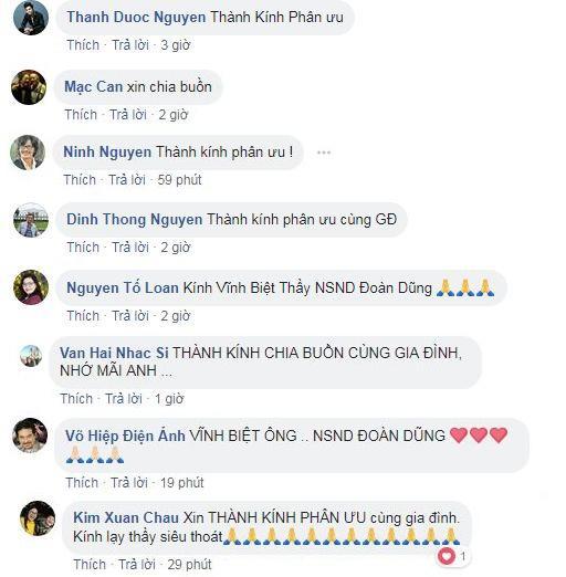 Nhiều nghệ sĩ khác như Thành Được, Mạc Can, Công Ninh, Kim Xuân... vĩnh biệt NSND Đoàn Dũng.