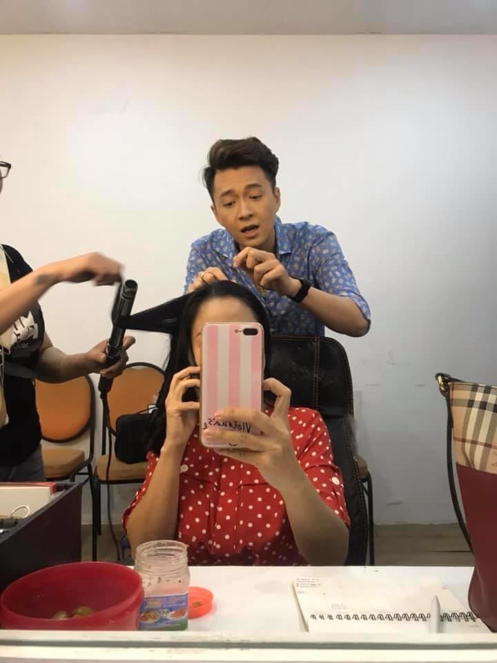 Ốc Thanh Vân và Ngô Kiến Huy không chỉ là đồng nghiệp mà còn thân thiết như chị em ruột - Ảnh: FBNV