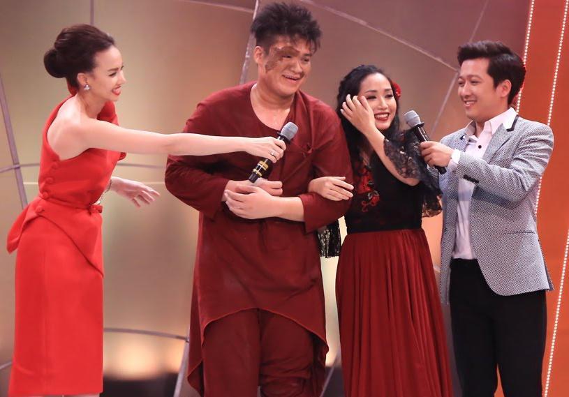 Trường Giang tiết lộ chuyện tình cảm với Ốc Thanh Vân ngay trên sân khấu Bước nhảy ngàn cân.