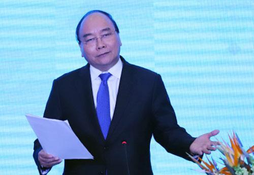 Thủ tướng Nguyễn Xuân Phúc phát biểu tại diễn đàn. Ảnh: Nguyễn Đông.