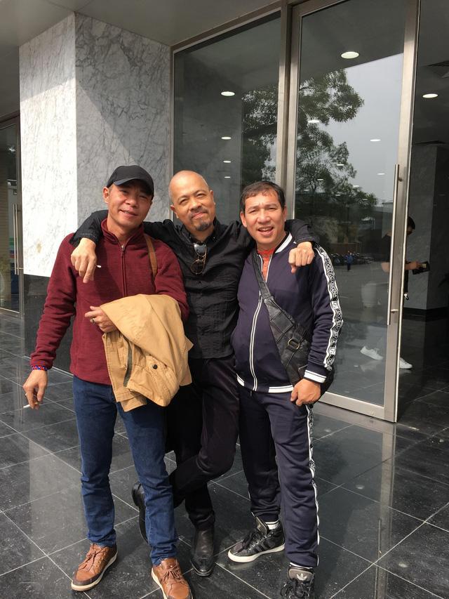NSƯT Công Lý, NTK Đức Hùng và NSƯT Quang Thắng trong một buổi tập Táo quân 2019 tại VTV.