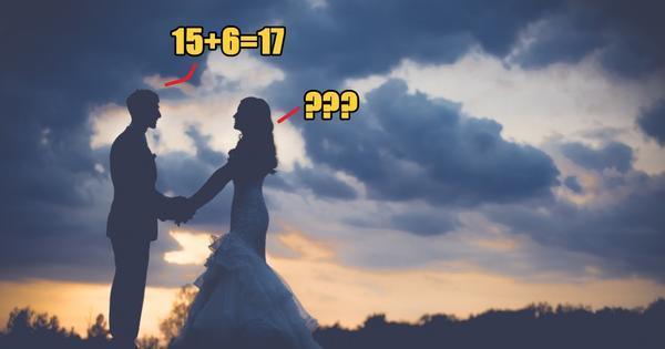 Những tưởng bài toán tiểu học này sẽ chẳng làm khó được ai nhưng không ngờ chú rể lại đưa ra đáp án sai.