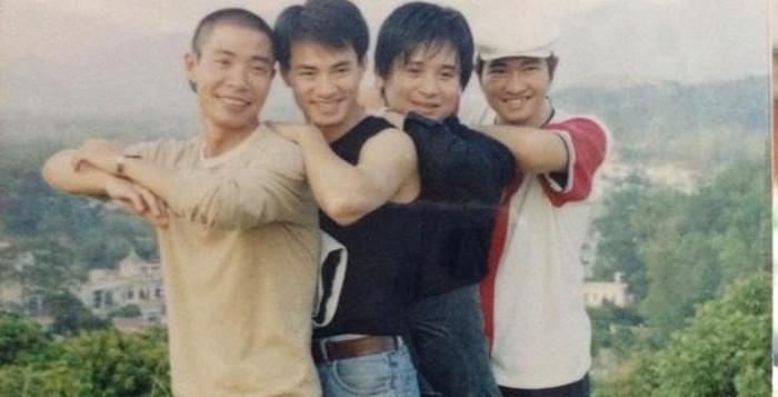 Nghệ sĩ Công Lý, Xuân Bắc, ca sĩ Tiến Minh, Minh Quân thời trẻ.