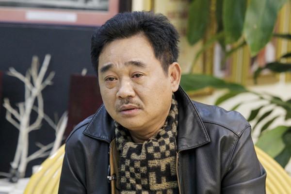 Khoảnh khắc xúc động của nghệ sĩ Quốc Khánh khi nói về mẹ. Ảnh: VietNamNet