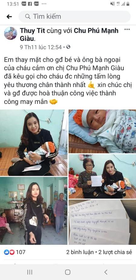 Người nhà chị Hoài thương hoàn cảnh bố con bé Gia Hưng đã đăng đàn xin sữa mẹ