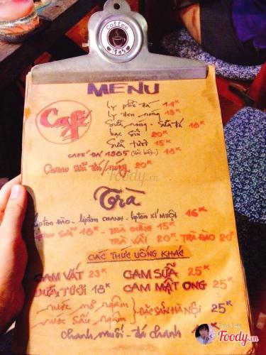 Menu phong phú của 1985 cafe. (Nguồn: foody.vn)